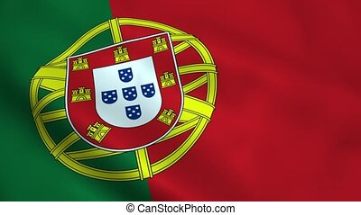 Realistic Portugal flag