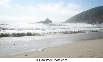 Haze on Pfeiffer Beach California - Pfeiffer Beach...