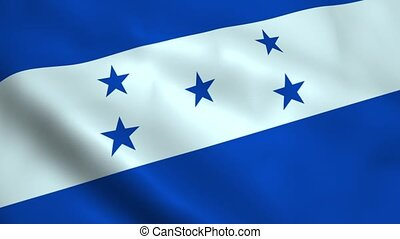 Realistic Honduras flag waving in the wind. Seamless...