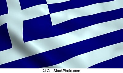 Realistic Greece flag