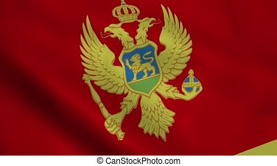 Realistic Montenegro flag waving in the wind Seamless...