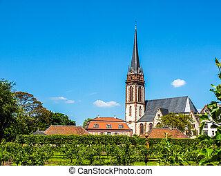 St Elizabeth church in Darmstadt HDR - High dynamic range...