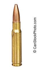 Damaged bullet - Center fire cartridge that has been bent...