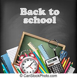 Back to school background. Vector.
