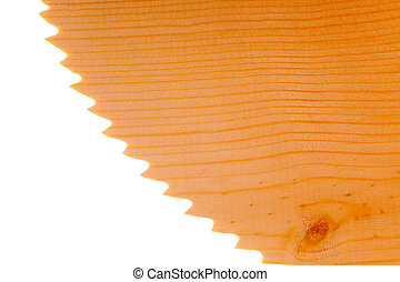 Saw blade with softwood texture - Pine or spruce softwood...