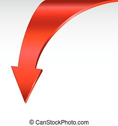 Red arrow and neutral white background. - Red arrow symbol...