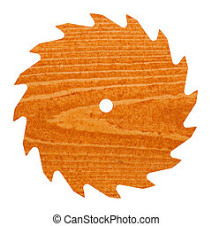 Circular saw blade with pine wood t - Pine or spruce...