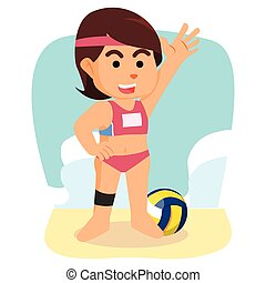 girl volley ball player