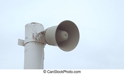 loudspeaker on the pole slowmotion video - See the...