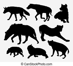 Hyena wild animal silhouette. Good use for symbol, icon,...