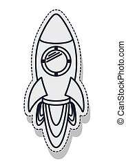 rocket startup launcher isolated icon vector illustration...