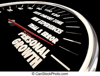 Personal Growth Leave Your Comfort Zone Speedometer 3d Illustration