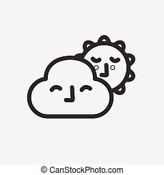 cloudy sunny icon