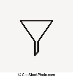 filter outline icon - filter icon of brown outline for...