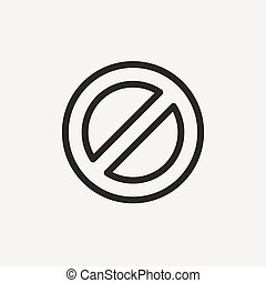 prohibit signal icon - prohibit signal of brown outline for...