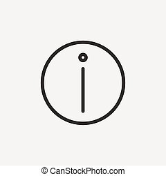 information sign icon of brown outline for illustration