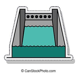 Hydroelectric plant isolated icon vector illustration design