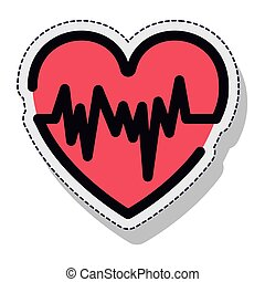 heart pulse isolated icon