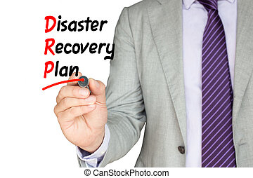 Disaster recovery plan business man - Businessman with a...
