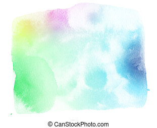 watercolor painted paper texture background - color...