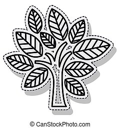 tree plant ecology isolated cion vector illustration design