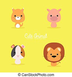 Cute Cartoon Wild Animals