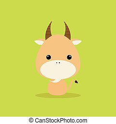 Cute Cartoon Wild goat