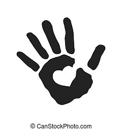 human hand heart gesture shape icon. Vector graphic