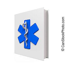 Medical Book with Star of Life