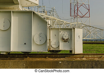 rail of transmitting system - rail system of a large...
