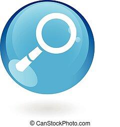 Blue magnifier