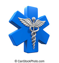 Star of Life Caduceus Symbol