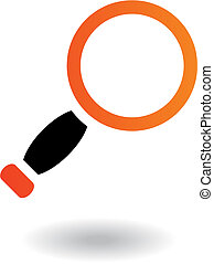 School objects magnifier - Orange and black magnifier...