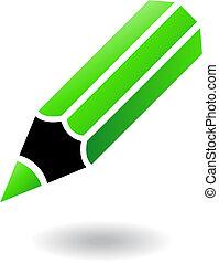 School objects pencil