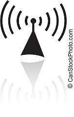 Black radio isolated on white