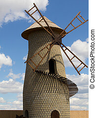 one old mill photo - one old mill the sky with clouds photo...