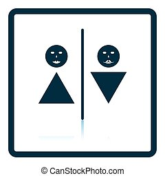 Toilet icon. Shadow reflection design. Vector illustration.