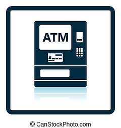 ATM icon Shadow reflection design Vector illustration