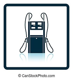 Fuel station icon. Shadow reflection design. Vector...