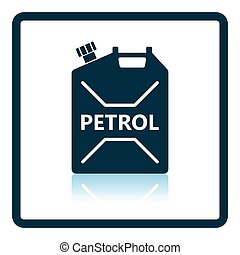 Fuel canister icon Shadow reflection design Vector...