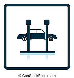 Car lift icon Shadow reflection design Vector illustration...