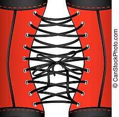background red black corset