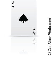 Suit spades card isolated on white