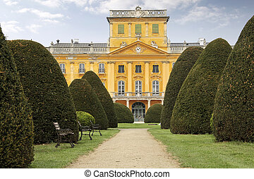 Palace of Esterhazy - Park of the Palace of Esterhazy in...