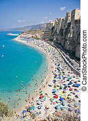 Tropea in Calabria, Italy - View of Tropea in Calabria,...
