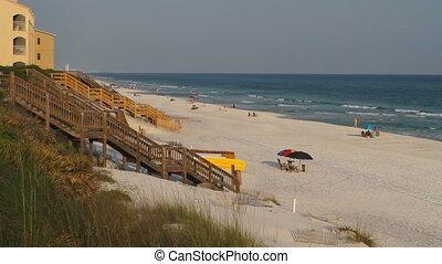 Florida Coastline Tourists