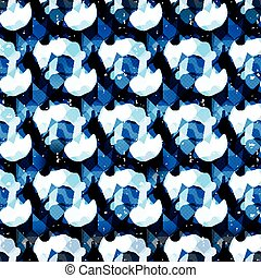 Blue abstract seamless pattern graffiti gentle color