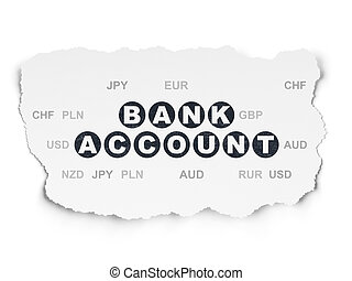 Money concept: Bank Account on Torn Paper background - Money...