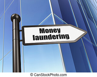 Banking concept: sign Money Laundering on Building...