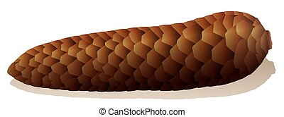 Constipation Symbol Spruce Cone - Constipation -...